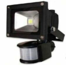 10W Low Energy High Power Black LED PIR Flood Security Light Outdoor Floodlight