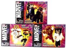 Marvel Comics miniMates Series 9 Art Asylum Set of 3 Patch Lady Deathstrike .
