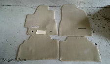 NEW OEM TOYOTA HIGHLANDER IVORY(TAN) FLOOR MATS & CLIPS 2004-2007
