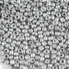 perline rocaille in vetro Opaco 2mm Argentato 20g (12/0)
