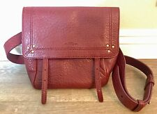 NWT Jerome Dreyfuss Jeremie Burgundy Red Lambskin Leather Bag $960