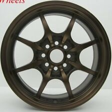 SPORT BRONZE 16X7 +40 ROTA CIRCUIT 8 4X100 RIM FIT INTEGRA FIT YARIS COROLLA MR2