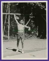 E03 Athletic Young Man Sporty Working Out Shirtless Photo Vintage Snapshot