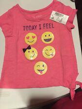 Children's Place Tcp Girls Emoji Tshirt Shirt Pink Sequins Nwt 6-9 6/9 Months