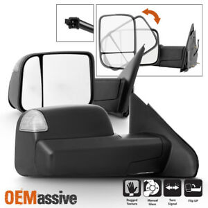 For 02-08 Dodge Ram 1500 /03-09 2500 3500 Manual [09 Style] Tow Mirrors w/Signal