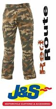 RED ROUTE CARGO 007 CAMO MENS COMBAT ARAMID MOTORCYCLE TROUSERS CASUAL J&S
