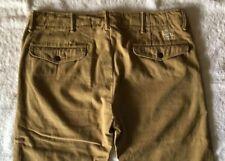 """Double rl rrl Logo """"oficial"""" Cuadro Pantalones chino rectos de los pantalones caqui W33/32"""