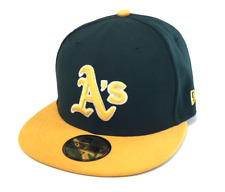 NEW ERA 59FIFTY FITTED CAP. BAYCIK FIT OAKLAND ATHLETICS. 7 (55.8cm)