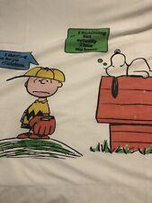 Vtg Charlie Brown Peanuts Snoopy J.P. Stevens Twin Bed Sheet