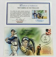 Bevil HP Passing Of Boston Red Sox Ted Williams Event Cover Cachet FDC 2002 G/B
