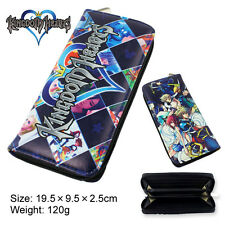 Kingdom Hearts series wallet cosplay anime long wallet leather Multicolor purse