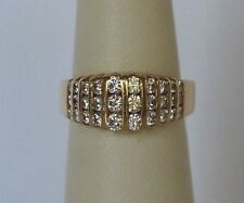 14k Yellow Gold Channel Set Diamond Ring .98 TCW G-H/SI1-VS2 Right hand sizable