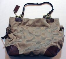 Coach Purse Handbag Beige Brown 10 X 11 Large Bag Tote