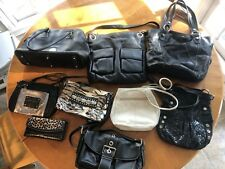 Lot of 8 Leather Handbags Wallet Dooney & Bourke B Makowsky Maxx Fossil Brahmin