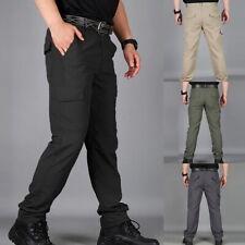 Mens Soldier Tactical Pants Casual Waterproof Pants Combat Outdoor Hiking US New