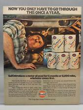 Vintage Magazine Ad Print Design Advertising Gulf Motor Oil