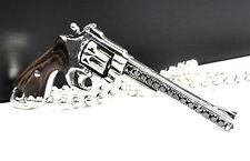Designer Silver Gun Pendant  With  Black Diamonds by Sacred Angels