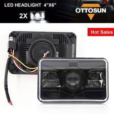 "OTTOSUN Pair 4""x6"" LED Sealed Beam Headlight Conversion Headlight Black"