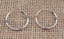 BALI Stile Sterling Silver Orecchini a Cerchio Paio {1} 20 MM confezione regalo gratuito