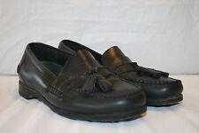 JOHNSTON & MURPHY 10.5 M Black Leather Kilt/Tassle Men Loafer