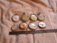 Antique Vintage Pocket Watch Lot Westclox Spartan Watch Case