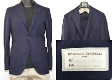 Men's Brunello Cucinelli Blazer 50IT 40US/UK Blue Wool Peak Lapel