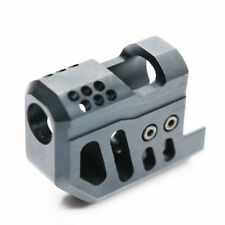 Airsoft BELL Compensator Front Kit for KSC / Bell M9 GBB Black