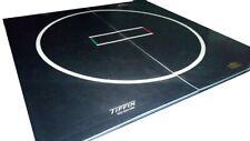"""Tiffin Wrestling Mat - 10' x 10' x 1-1/4"""" - Black w/Markings - NEW!"""