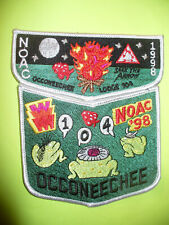 OA Occoneechee Lodge 104,1998 NOAC,Two Part Set,BUD FROGS,Camp Durant,Council,NC