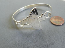 Vintage NOS thunderbird native good quality silver plate hook bracelet DB