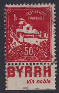 ALGERIA 1930 USED #50a, BOOKLET STAMP !! H35