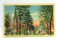 South Bend Indiana Notre Dame University Quadrangle Sacred Heart Church Postcard