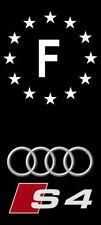 2 Stickers Adhésif Plaque Immatriculation Logo Audi S4