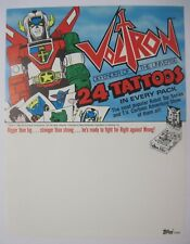 1984 TOPPS VOLTRON DEFENDER OF THE UNIVERSE TATTOOS BOX DEALERS ONLY SELL SHEET