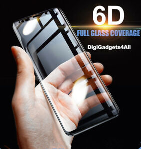 6D Cover Tempered Glass Screen Protector For Samsung Galaxy S10 S9 Plus Note 10+