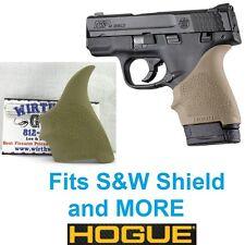 FDE Tan Hogue Rubber HandAll Beavertail Grip Sleeve S&W M&P Shield 9mm 40S&W