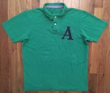 Abercrombie & Fitch Heather Kelly Green Short Sleeve Polo Shirt XL Extra Large
