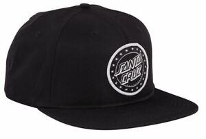SANTA CRUZ SPANGLE DOT SNAPBACK HAT, Skate Cap, Spangle Patch Logo, Black, *NEW*
