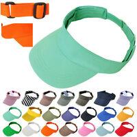 Visor Sun Plain Hat Sports Cap Colors Golf Tennis Beach Adjustable Simple Style