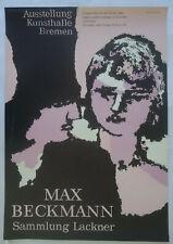 Plakat Poster - Ausstellung Max Beckmann 1966 - Sammlung Lackner