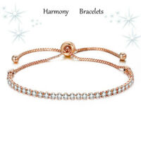 Dainty Rose Gold Plated Swarovski Elements Crystal Bracelet - Harmony Bracelets