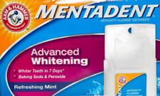 Mentadent Arm & Hammer Fluoride Toothpaste Advanced Whitening Refill & Base NEW