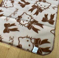 Brand New Brown Hello Kitty Sanrio Blanket