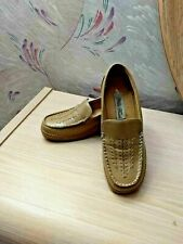 Nilla Touch Tan Beige Moccasin Comfort Wedge Slip On Loafer Shoes 6.5