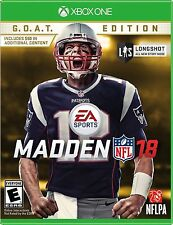 Madden NFL 18: G.O.A.T. Edition - Xbox One NEW!