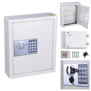 48 Key Digital Safe Electronic Security Cabinet Box Storage Metal Wall Mounted