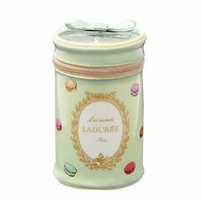 New LADUREE Paris Cylinder PVC Pouch Cosmetic Bag L.Green Macaron by MARK'S Inc