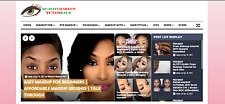 Established MAKEUP VIDEO Website for sale -Profitable Wordpress Turnkey Blog