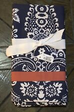 1 New Pottery Barn Elaine Standard Pillow Sham Blue Coral Cotton Lovely