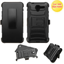 Black/Black Advanced Armor Stand case Black Holster KYOCERA C6742 Hydro View